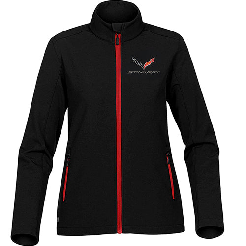 Ladies C7 Corvette Stingray Matrix Soft Shell Jacket