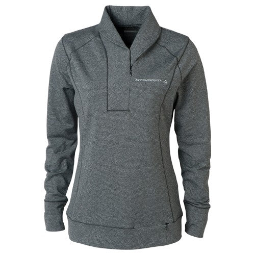 Ladies Stingray Shoreline Half-Zip Sweater - [Corvette Store Online]