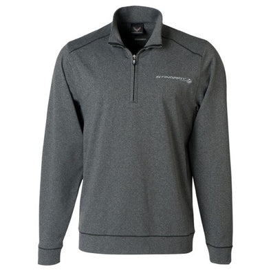 Mens Stingray Shoreline Half-Zip Sweater - corvettestoreonline-com