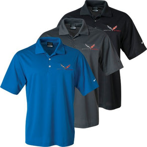 c2058040 C7 Grand Sport Nike Dri-Fit Polo - [Corvette Store Online]