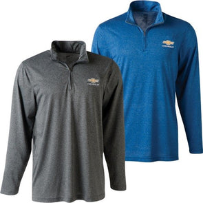 Chevrolet Gold Bowtie Men`s Cool & Dry Performance Quarter Zip Jacket - [Corvette Store Online]