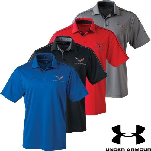 C7 Corvette Under Armour Tech Polo - [Corvette Store Online]