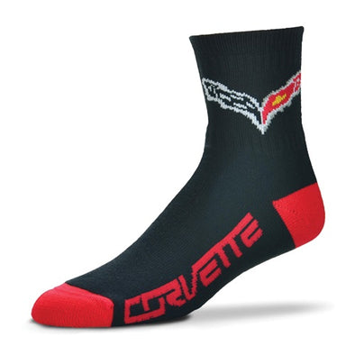 C7 Corvette Team Color Quarter Crew Sock - [Corvette Store Online]