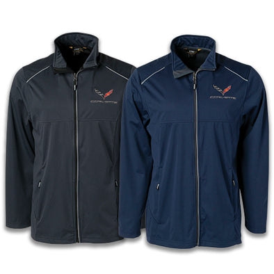 C7 Corvette Men's Lite Three Layer Jacket - corvettestoreonline-com