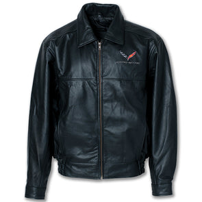C7 Corvette Textured Lamb Leather Jacket - [Corvette Store Online]