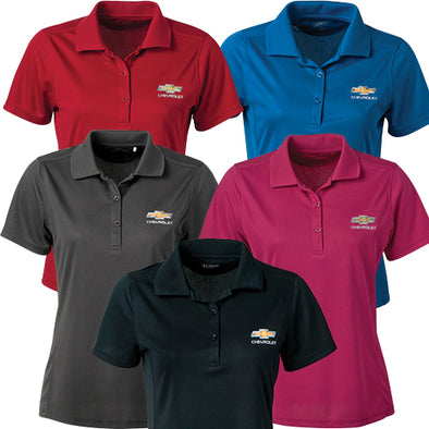 Ladies' Chevrolet Gold Bowtie Ice Pique Polo - [Corvette Store Online]