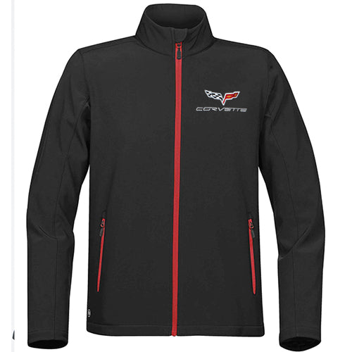 Mens C6 Corvette Matrix Soft Shell Jacket