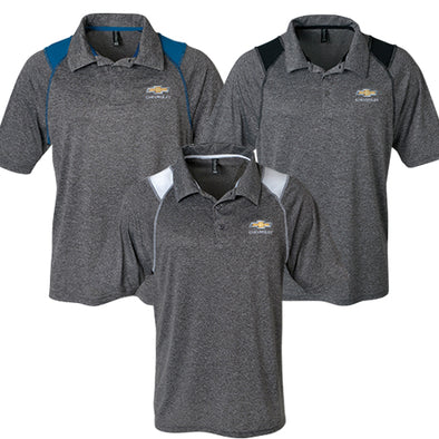 Men's Chevrolet Gold Bowtie Mystic Heather Polo - [Corvette Store Online]