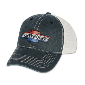 Chevy Red White & Blue American Washed Patch Cap - [Corvette Store Online]