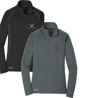 Ladies Corvette Next Generation Eddie Bauer ½ Zip Pullover - [Corvette Store Online]