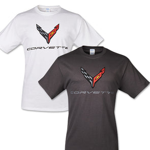 Corvette Next Generation Men's Carbon Flash Tee - [Corvette Store Online]