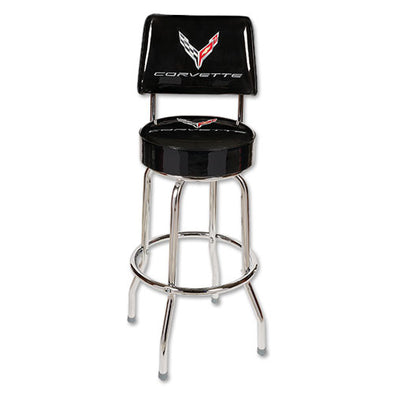 Corvette Next Generation Counter Stool w/ Back - [Corvette Store Online]