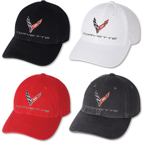 Corvette Next Generation Premium Garment Washed Cap - [Corvette Store Online]