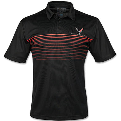 C8 Corvette 2020 Mens Wavelength Polo