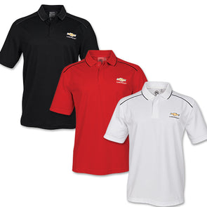 Chevrolet Mens Gold Bowtie Endurance HD Polo