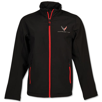 Corvette Men's C8 Matrix Soft Shell Jacket