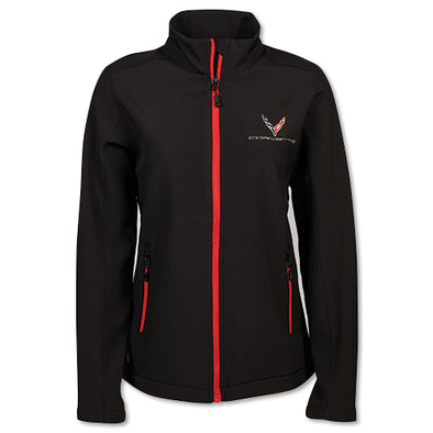 Corvette Ladies C8 Matrix Soft Shell Jacket