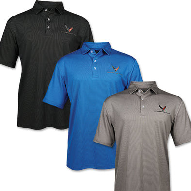 C8 Mens 2020 Corvette Birdseye Polo