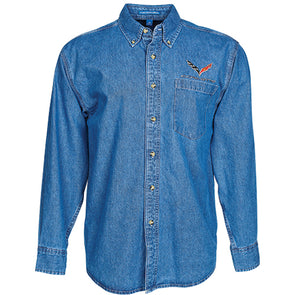 C7 Corvette Heavyweight Denim Shirt