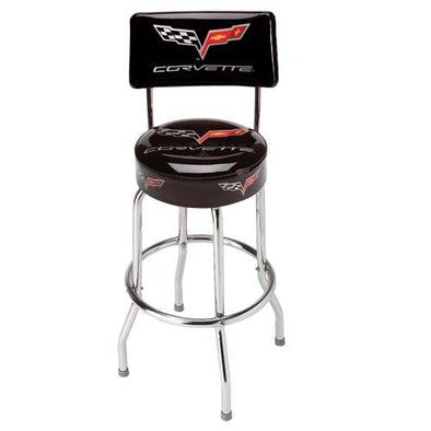 Corvette C6 Counter Stool w/ Back - [Corvette Store Online]