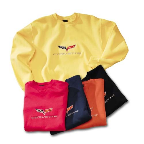 C6 Corvette Embroidered Sweatshirt - [Corvette Store Online]