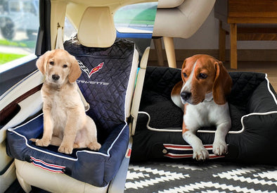 Corvette Cross Flags Pet Bed And Seat Cover -C4, C5, C6 or C7