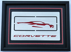 Next Generation Corvette Silhouette/Signature Shadowbox - [Corvette Store Online]