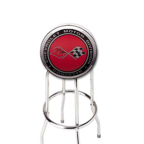 Corvette Crossflags Counter Stool - [Corvette Store Online]