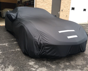 C7 Corvette Select-Fleece Car Cover - Black Satin