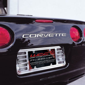 C5 & Z06 Corvette License Plate Frame - Billet Chrome | 1997-2004 - [Corvette Store Online]
