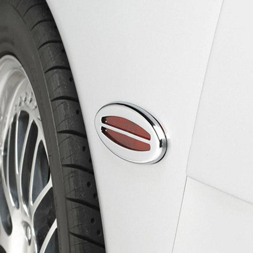 C5 & Z06 Corvette Side Marker Light Covers | Billet Chrome 2 Pc. (Set) - [Corvette Store Online]