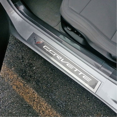 C7 Corvette Stingray Door Sill Protectors | Clear - [Corvette Store Online]