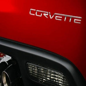 C6 Corvette Rear Stainless Steel Letters 2005-2013 - [Corvette Store Online]