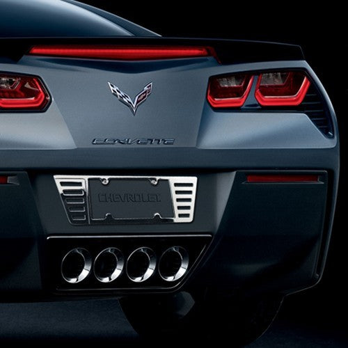 C6/C7 Stingray Corvette | License Plate Frame | Billet Chrome | 2005-2020 - [Corvette Store Online]