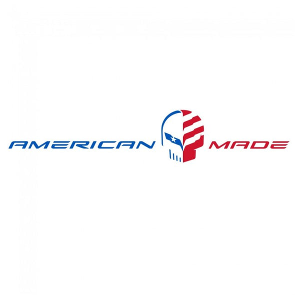 Corvette American Made Jake Vinyl Automotive Decal Red, White & Blue - [Corvette Store Online]