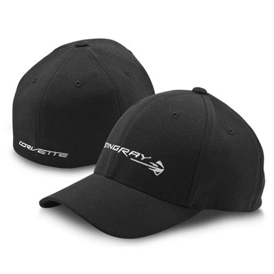 C7 Corvette Stingray Flexfit Cap - Black - [Corvette Store Online]