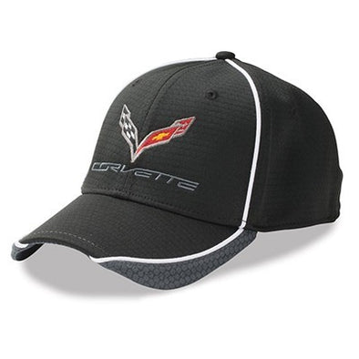 Corvette Hex Pattern Cap - Black/Graphite/White - [Corvette Store Online]