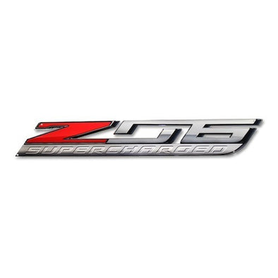 "Corvette ""Z06 Supercharged"" Metal Sign - 35"" x 5"" - [Corvette Store Online]"