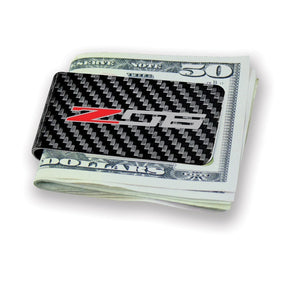 Z06 Carbon Fiber Money Clip - Black - [Corvette Store Online]