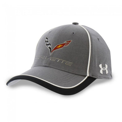 C7 Corvette Under Armour Stingray Fitted Cap - Graphite/White - [Corvette Store Online]
