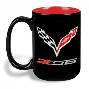 C7 Corvette Z06 15 oz Mug - Black/Red - [Corvette Store Online]