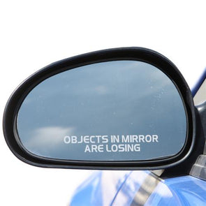"Corvette Outside Rear View Mirror Decal,  ""Objects In Mirror Are Losing"" - [Corvette Store Online]"