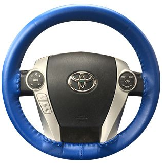 Corvette One Color Leather Steering Cover - [Corvette Store Online]