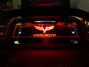 C6 Corvette Coupe Wind Restrictor Glow Plate - [Corvette Store Online]