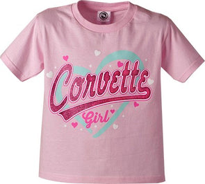 Corvette Girl Young Love Youth Tee - [Corvette Store Online]