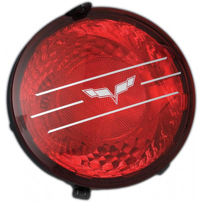C6 Corvette Taillight Decal Set, 2005-2013 - [Corvette Store Online]