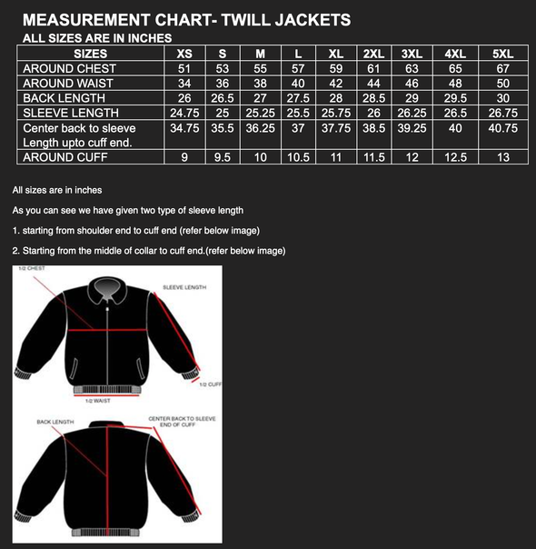C5 Corvette Twill Jacket - Red/Black