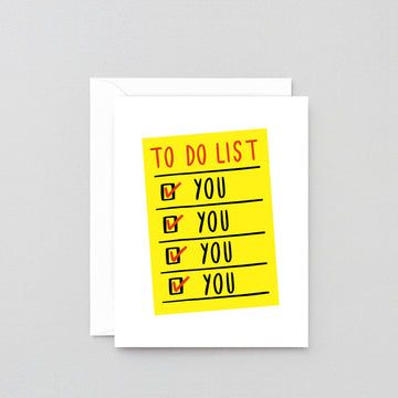 To Do List Greetings Card