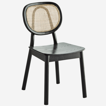 Wooden Chair With Rattan