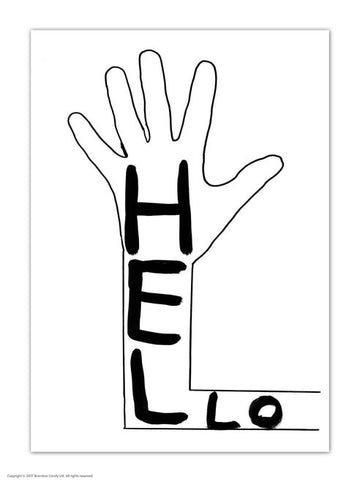 David Shrigley Hello Postcard